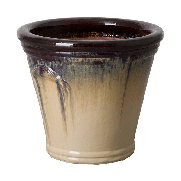 Round Ceramic Pot Planter by Emissary Home and Garden
