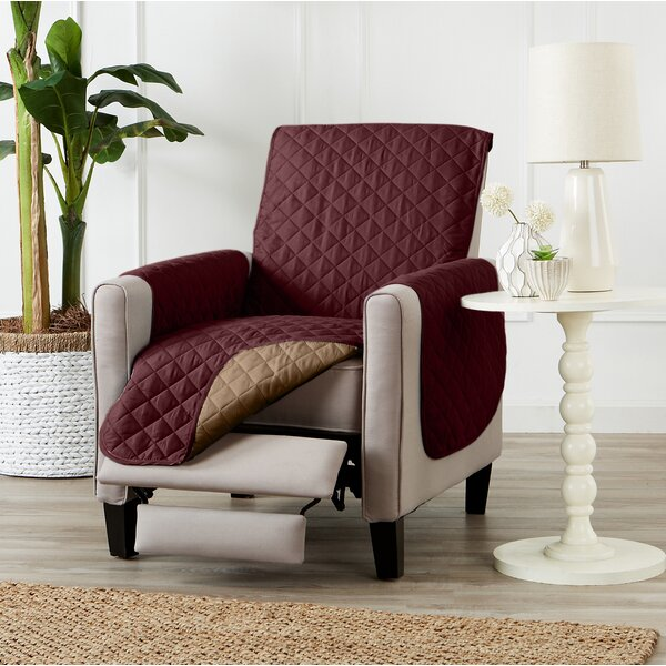 Reversible Quilted Box Cushion Recliner Slipcover By Alcott Hill