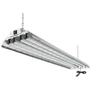 4 light fixture rectangular 4light fluorescent heavyduty high bay ft light fixture wayfair
