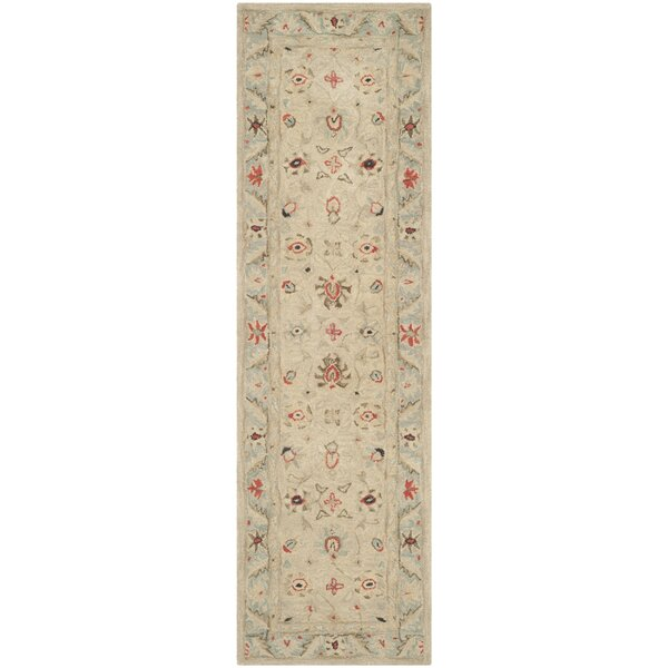 Anatolia Natural/Soft Turquoise Area Rug by Safavieh