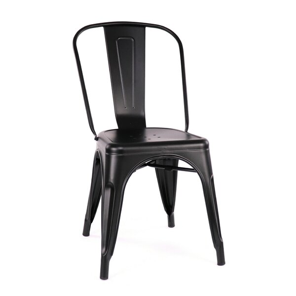 Despres Glossy Stackable Dining Chair (Set of 2) by Williston Forge