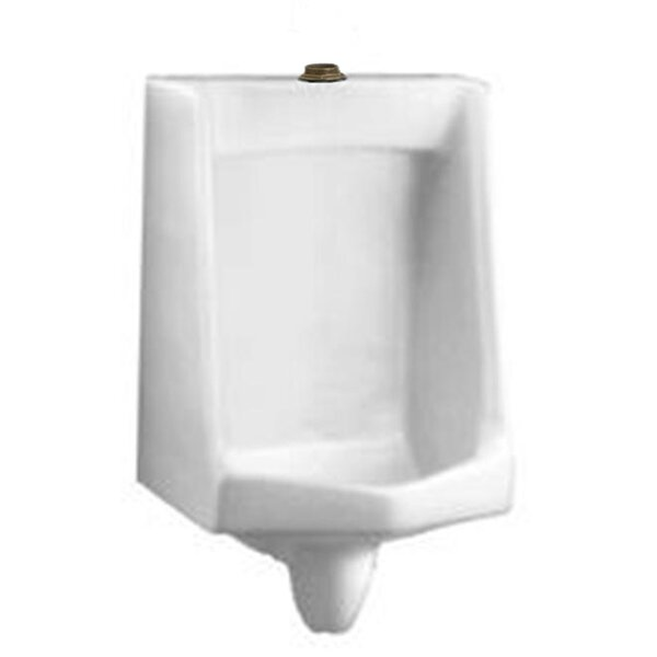 Lucia Lynbrook Urinal with 1.25 Top Spud, Wall Hangers, and Outlet Connection by American Standard