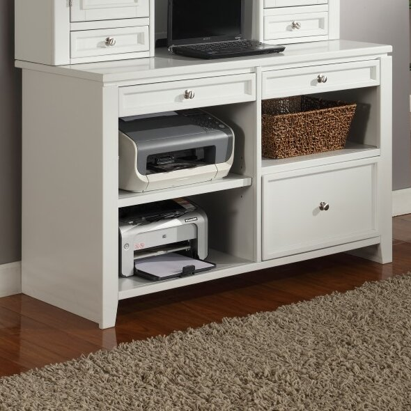 Veda Wood Credenza Desk by Beachcrest Home