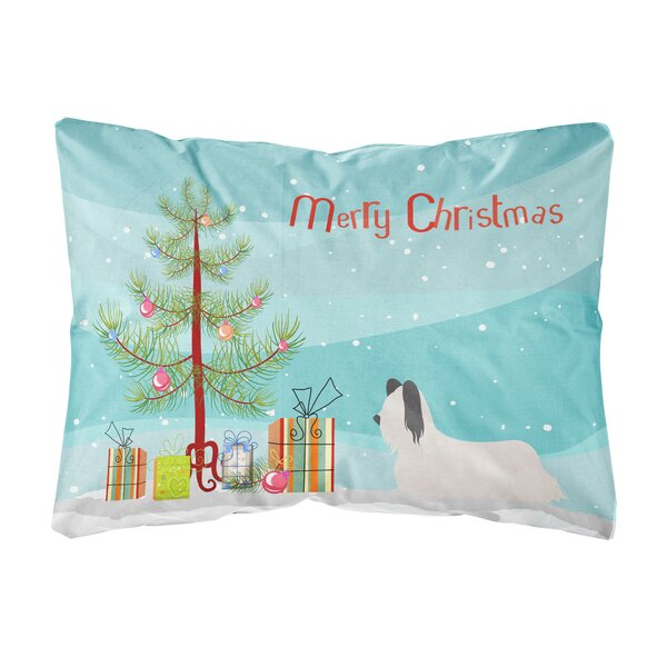 Lunado Skye Terrier Christmas Indoor/Outdoor Throw Pillow by The Holiday Aisle