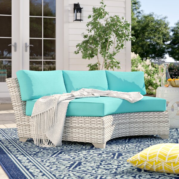 Falmouth Patio Sofa with Cushions (Set of 2) by Sol 72 Outdoor Sol 72 Outdoor