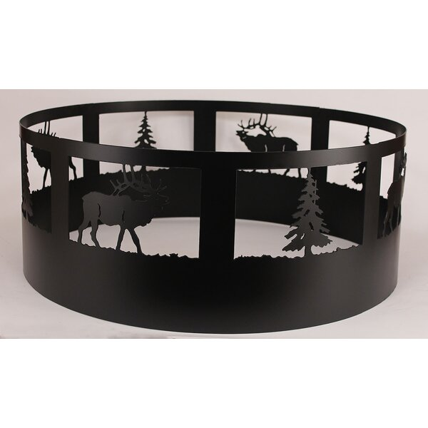 Glenlee Elk Steel Charcoal Fire Ring by Loon Peak