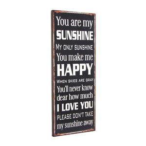 'You Are My Sunshine' Textual Art Plaque by Williston Forge