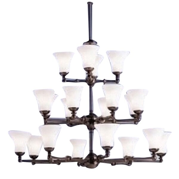 Manufahi 20 - Light Shaded Tiered Chandelier by Williston Forge Williston Forge