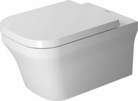P3 Comforts 1.28 GPF (Water Efficient) Elongated Wall Mounted Toilet with High Efficiency Flush (Seat Not Included) by Duravit