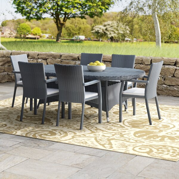 Brandon 7 Piece Dining Set with Cushions by Beachcrest Home