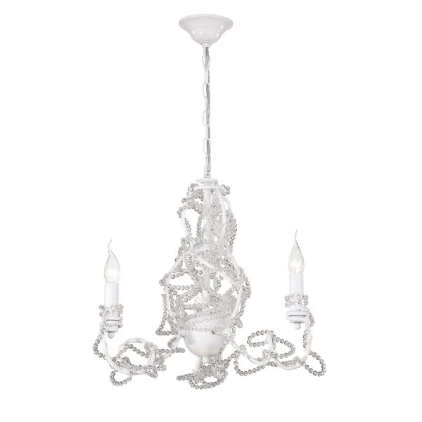 Fantasia 3-Light Candle Style Chandelier by Eurofase