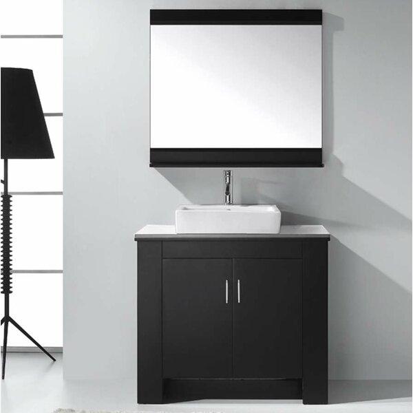 Glen Ridge 36.2 Single Bathroom Left Side Vanity Set and Mirror by Wade Logan