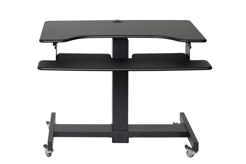 Symple Stuff Rocelco Dual Monitor Keyboard Tray Standing Desk Reviews Wayfair