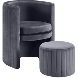 Reviews Malek Barrel Chair ByMercury Row