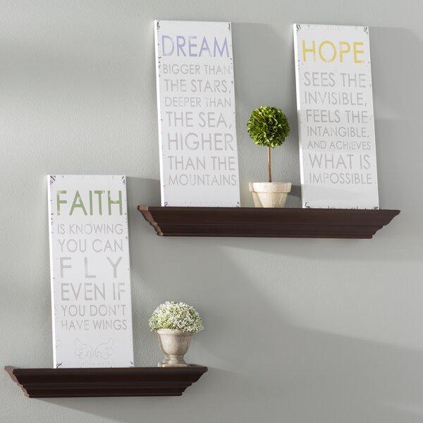 Dream, Hope, Faith Inspirational 3 Piece Textual Art Wall Plaque Set by Andover Mills