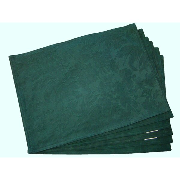 Scroll Leaf Placemat (Set of 6) by Textiles Plus Inc.
