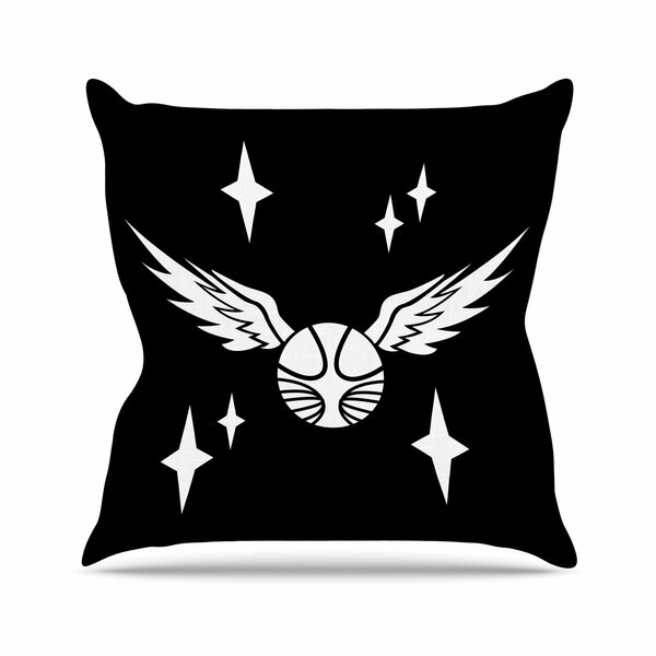 Jackie Rose Snitch Fantasy Outdoor Throw Pillow by East Urban Home