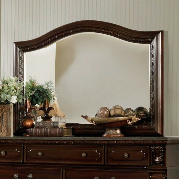 Ginter Wooden Arched Dresser Mirror by Fleur De Lis Living