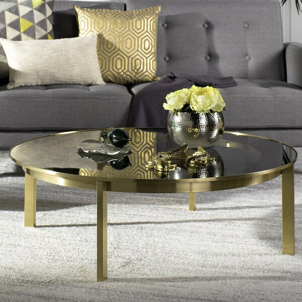 Sammie Glass Top Coffee Table by Everly Quinn