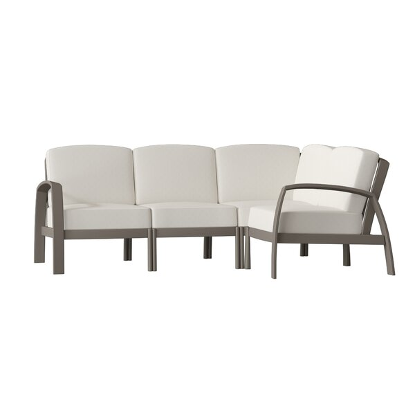South Beach Sectional Sofa with Cushions by Tropitone