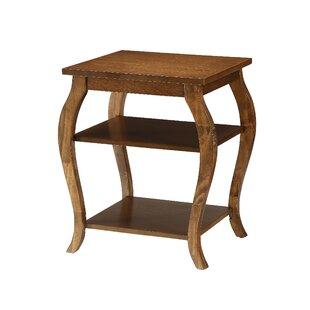Jusino 2-Shelf End Table