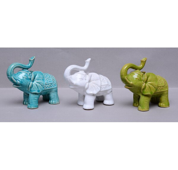 Estrada Elephants Figurine (Set of 3) by World Menagerie