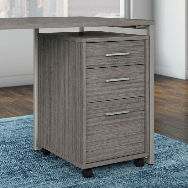 Method 3 Drawer Mobile Vertical Filing Cabinet by Kathy Ireland Office by Bush