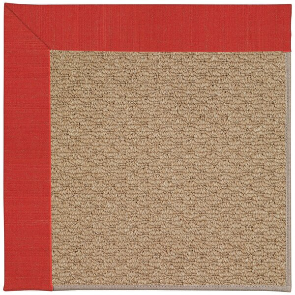 Lisle Machine Tufted Red Crimson Indoor/Outdoor Area Rug by Longshore Tides