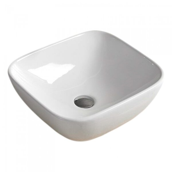 Ceramic Rectangular Vessel Batroom Sink
