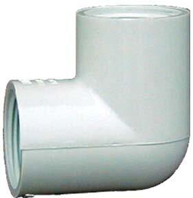PVC Sch. 40 90 Threaded Elbow (Set of 10) by GenovaProducts
