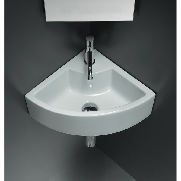 Ceramic Specialty Wall-Mount Bathroom Sink by American Imaginations