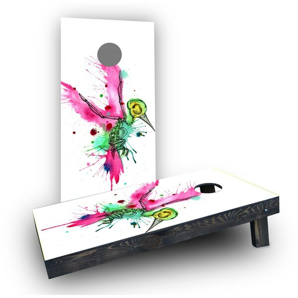 Humming Bird Art Cornhole Boards (Set of 2) by Custom Cornhole Boards