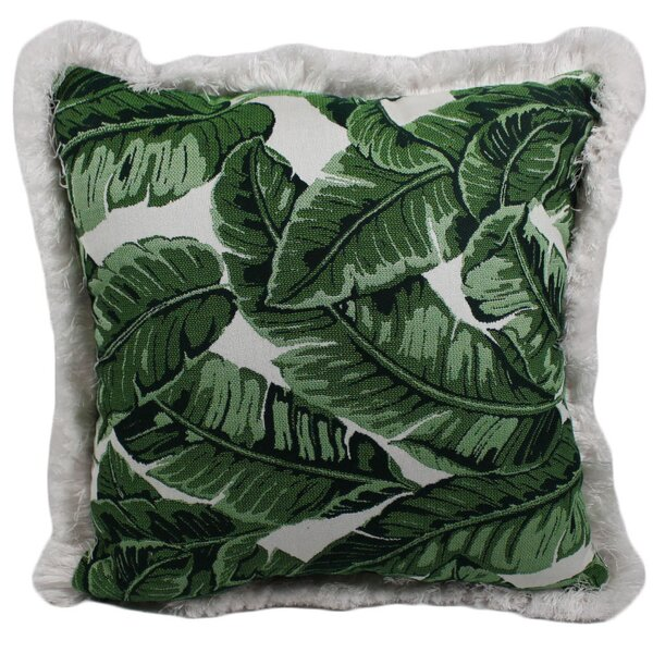 Halfmoon Tropical Jungle Outdoor Throw Pillow by Bayou Breeze