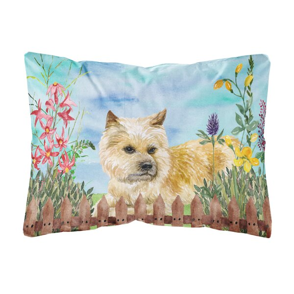 Schick Cairn Terrier Spring Indoor/Outdoor Throw Pillow by Winston Porter