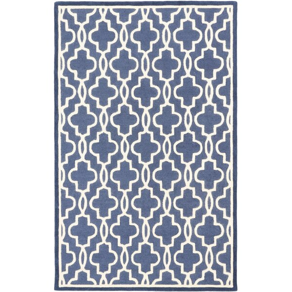 Hartland Casual Hand Tufted Navy Area Rug by Mercer41