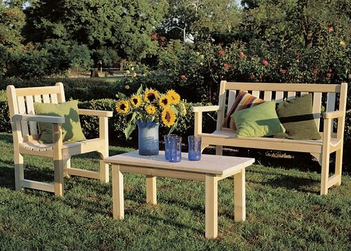 English Bench Seating Group by Rustic Natural Cedar Furniture