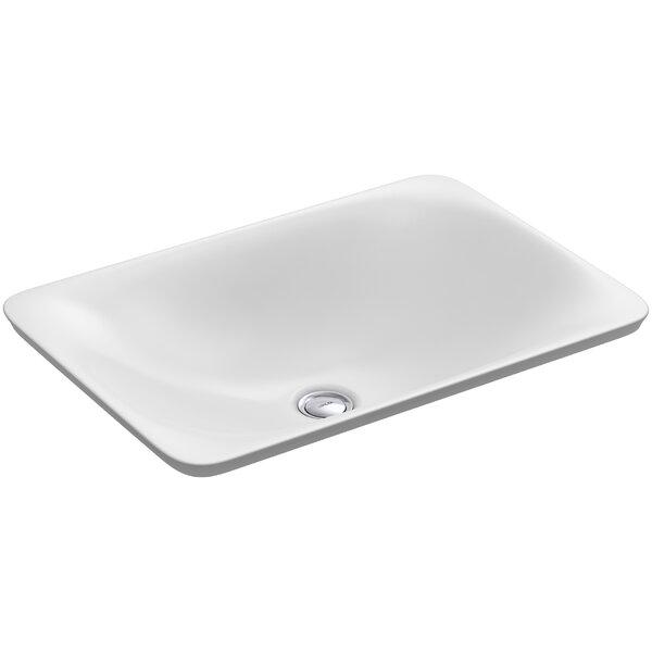 Carillon Ceramic Rectangular Vessel Bathroom Sink by Kohler