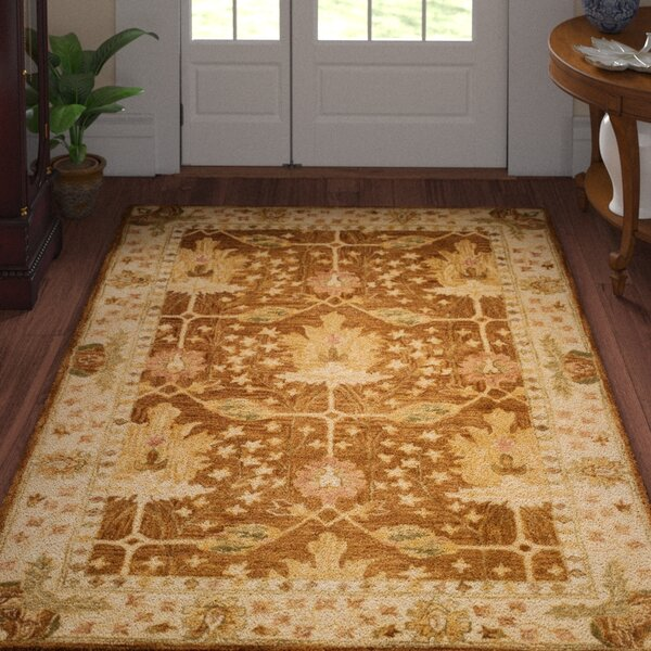 Ashville Hand-Tufted Brown / Beige Area Rug by Three Posts