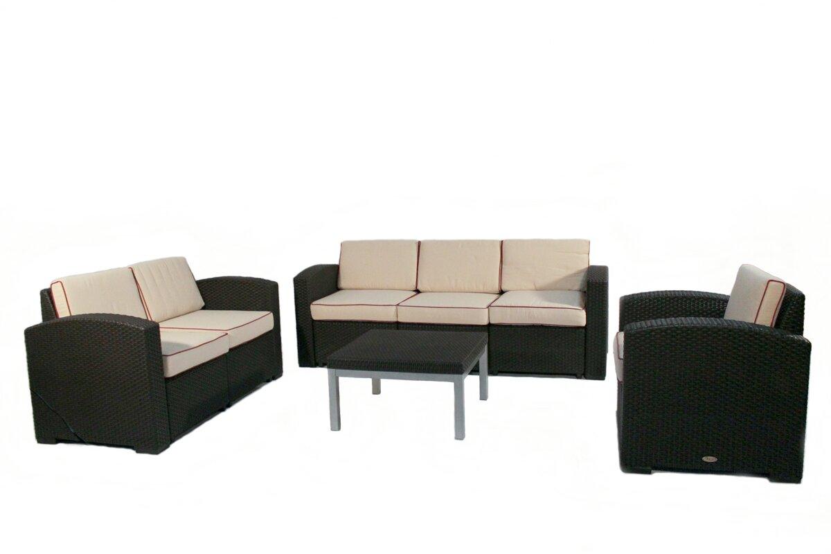 Loggins 4 Piece Sofa Set With Cushions By Brayden Studio