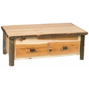 Hickory Lift Top Coffee Table with Storage