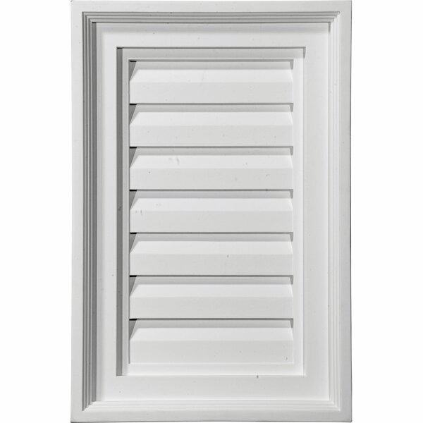 18H x 12W Vertical Gable Vent Louver by Ekena Millwork