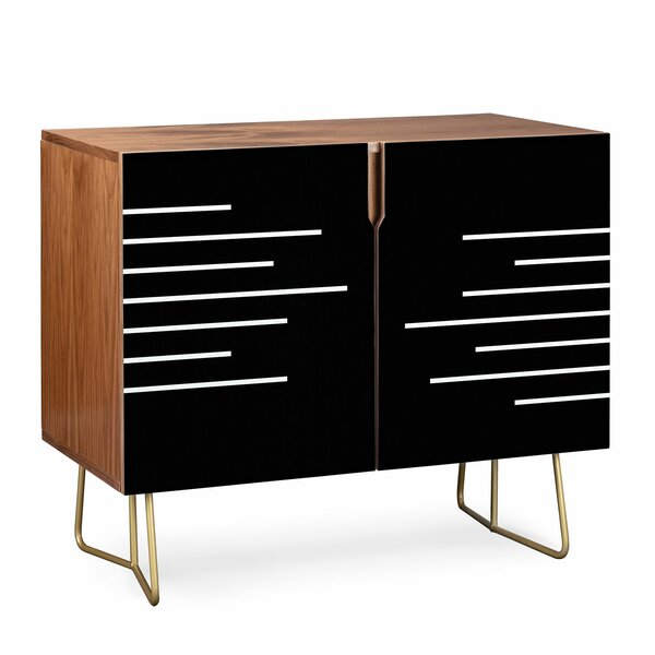 Kelly Haines Geometric Stripes Accent Cabinet By East Urban Home