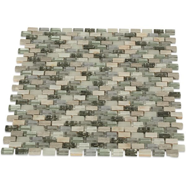 Paradox 0.37 x 0.62 Mixed Material Mosaic Tile in Puzzle by Splashback Tile