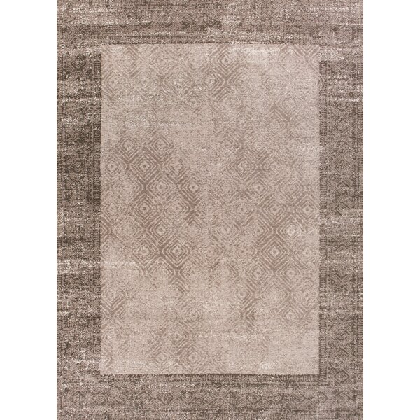 Keanu Taupe/Brown Area Rug by Bloomsbury Market
