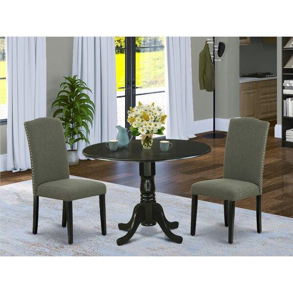 Lizzie 3 Piece Drop Leaf Solid Wood Dining Set By Alcott Hill