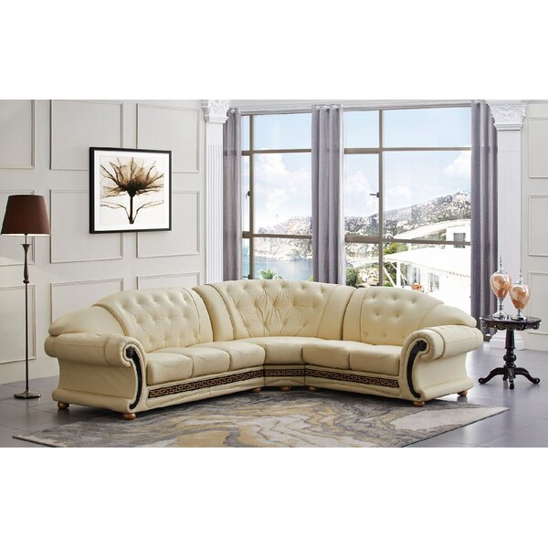 Great Deals Francesco Leather Sectional
