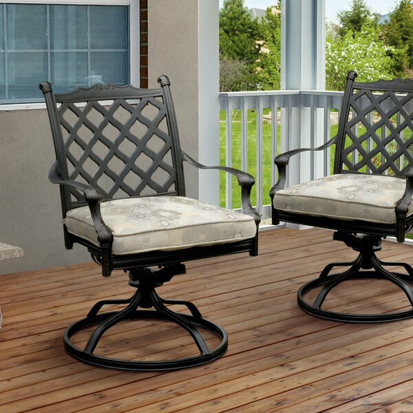 Kipling Patio Chair with Cushion (Set of 2) by Darby Home Co
