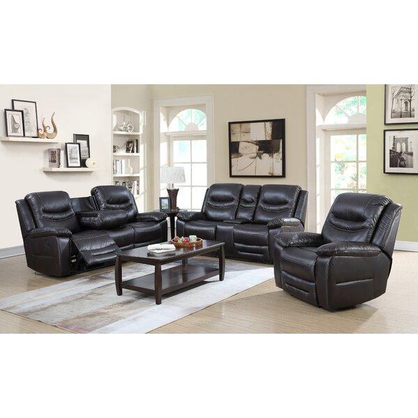 Best #1 Louviere 3 Piece Reclining Living Room Set By Red Barrel Studio