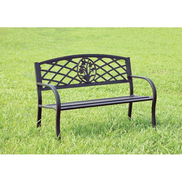 Hoggan Patio Metal Park Bench by Winston Porter
