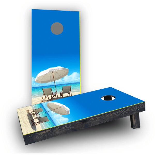 Beach Cornhole Game Set by Custom Cornhole Boards